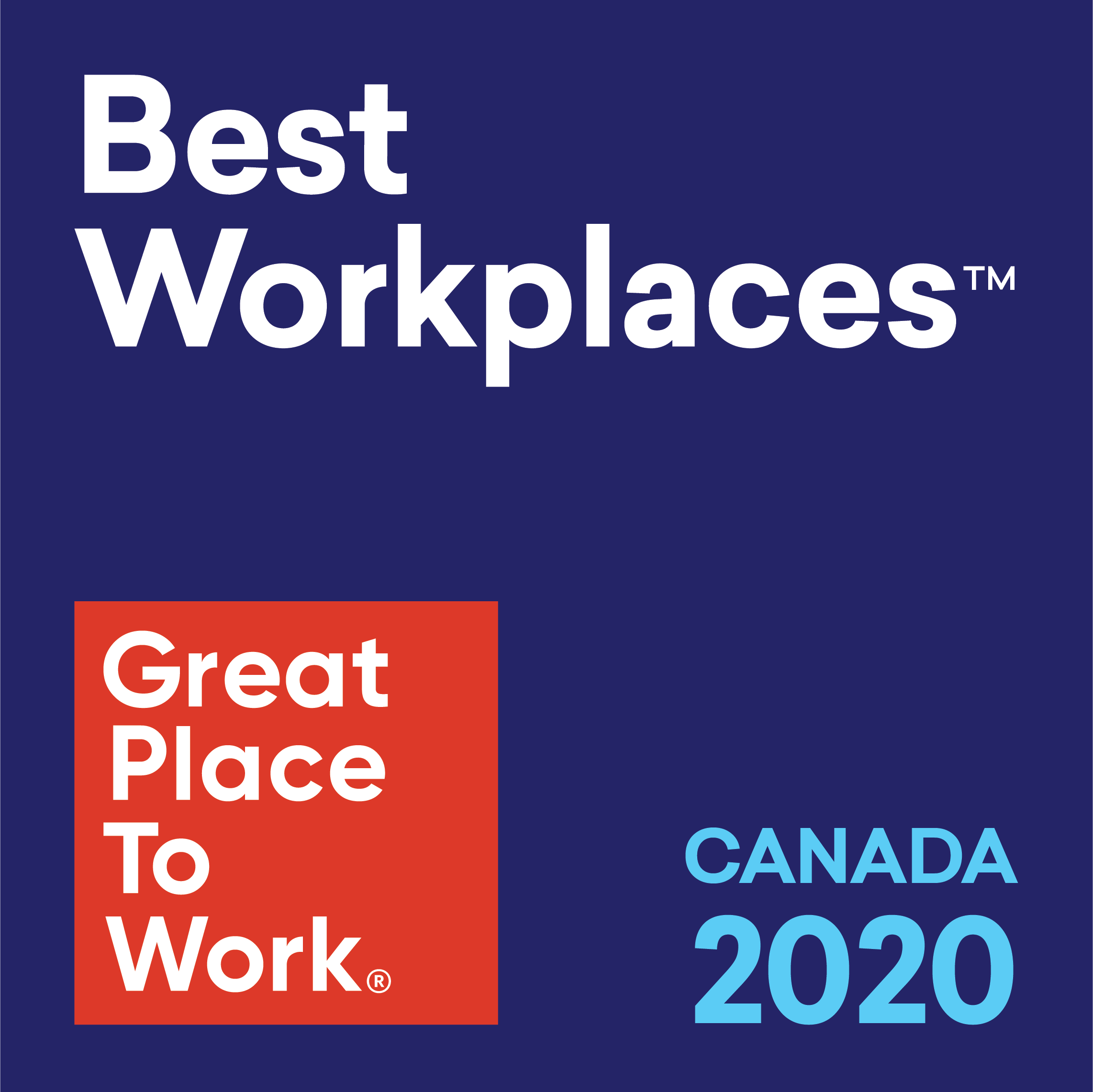 Best Workplaces in Canada 2020 less than 100 employees